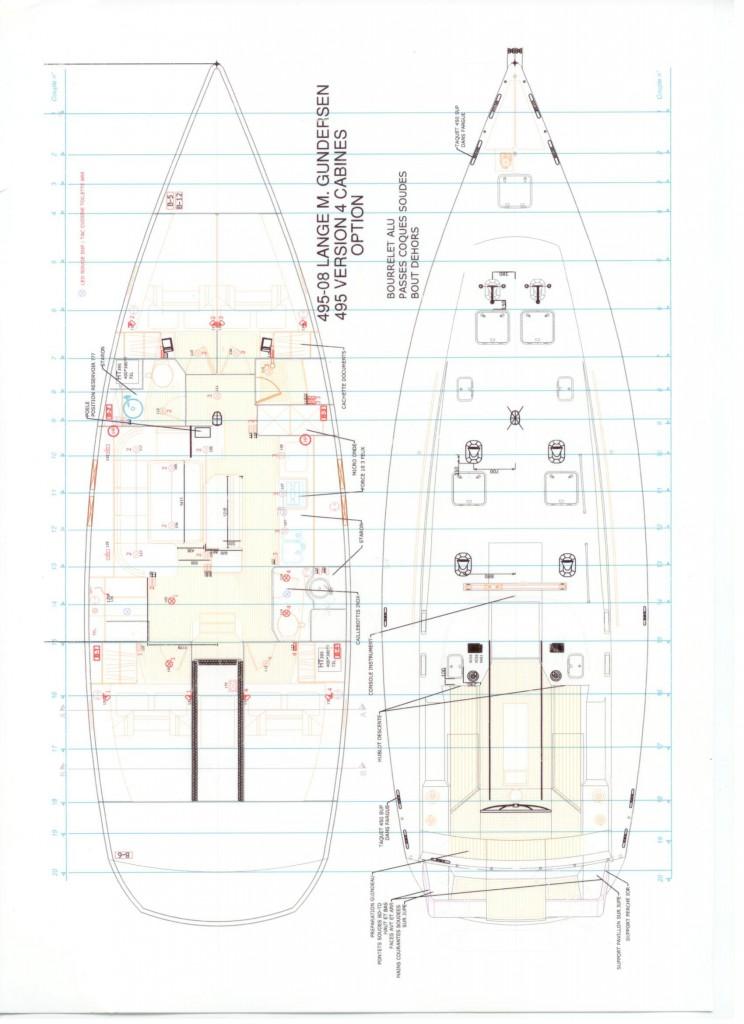Tegninger av båten.